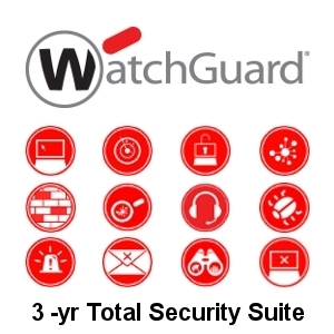 Picture of WatchGuard Total Security Suite Renewal 3-yr for Firebox T15-W