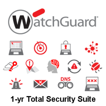Picture of WatchGuard Total Security Suite Renewal 1-yr for Firebox T40-W