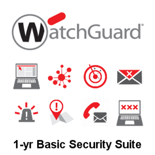 Picture of WatchGuard Basic Security Suite Renewal 1-yr for Firebox T80
